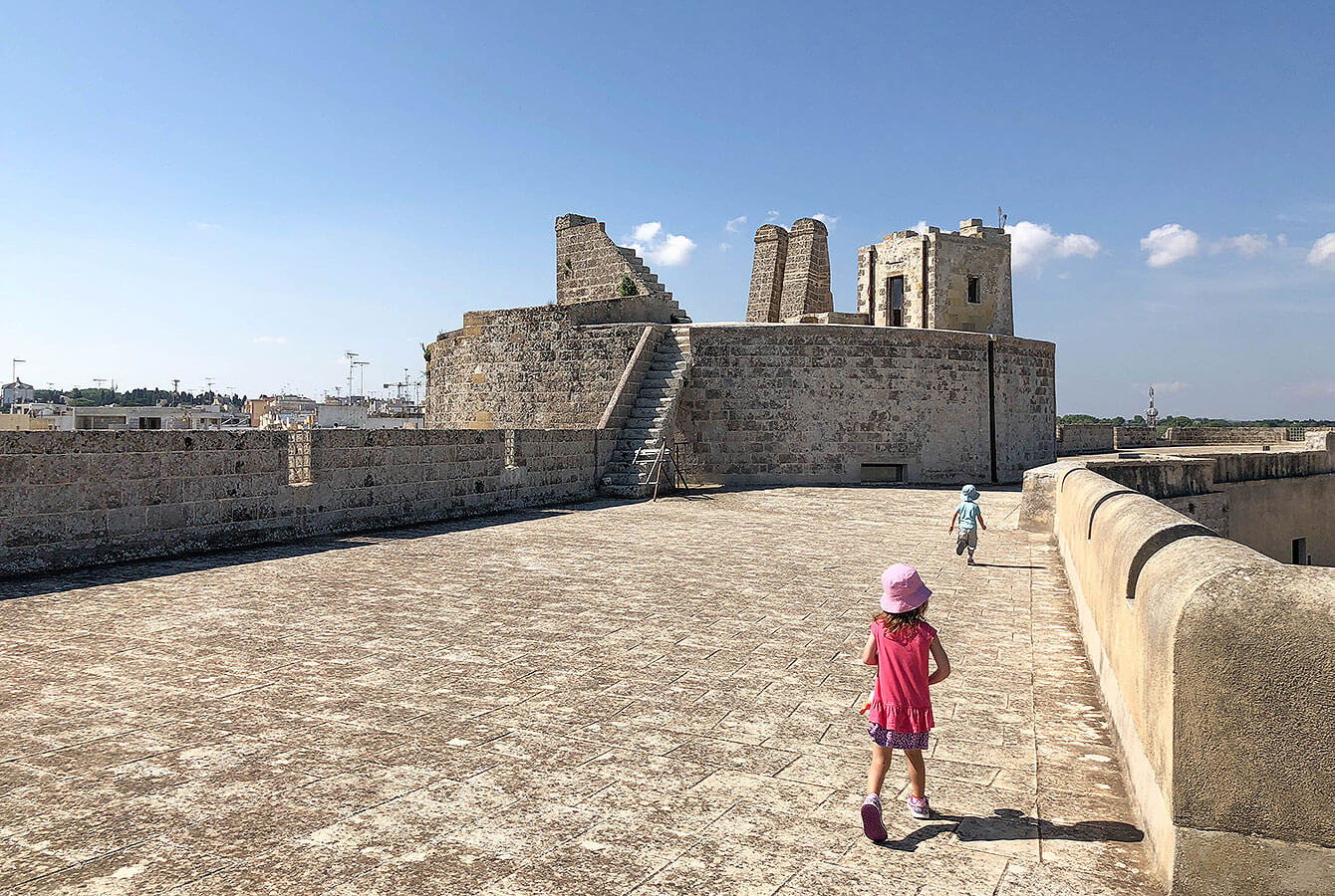 On the top of the Castel - Otranto