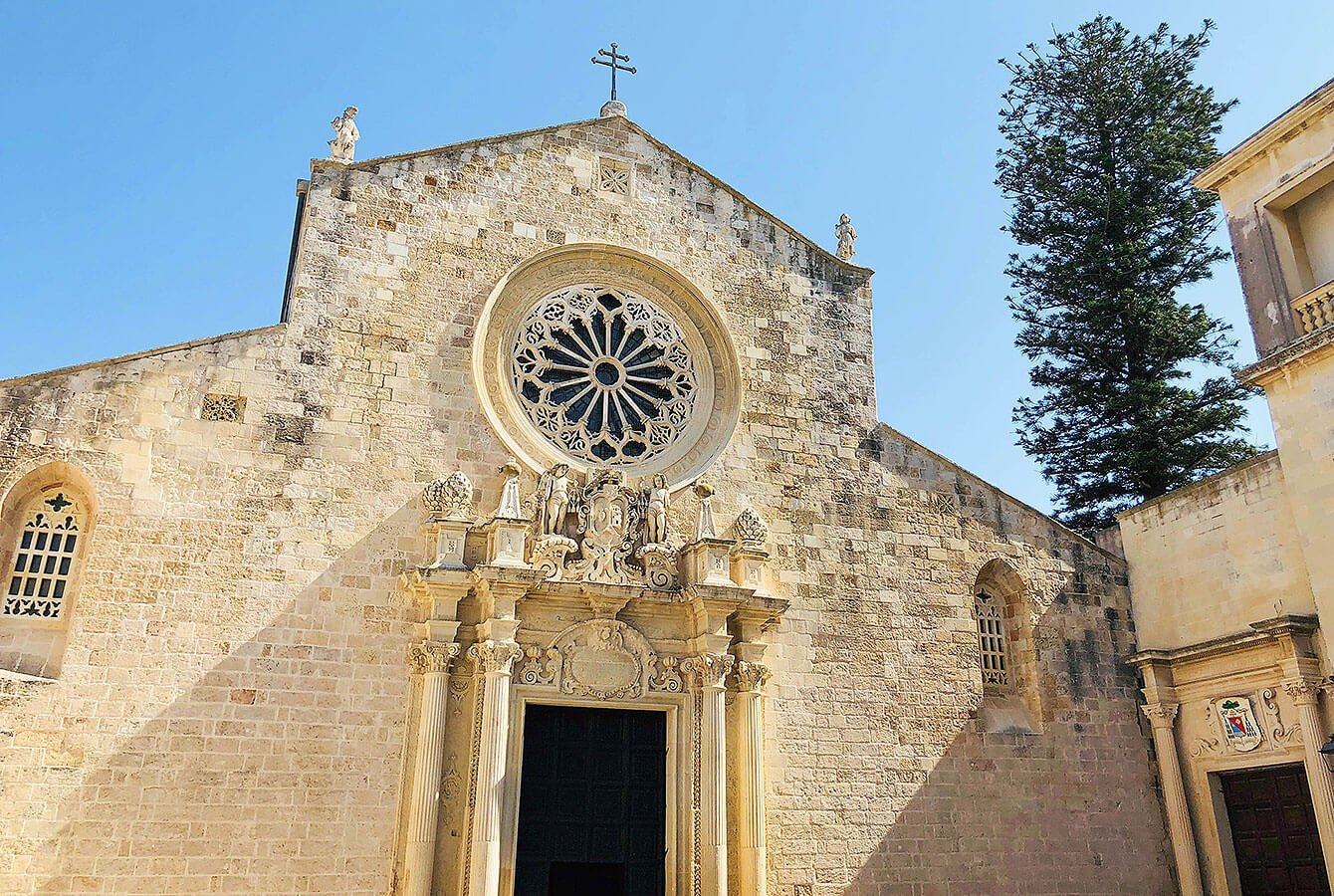 Otranto cathedral with the amazing Rose-Window