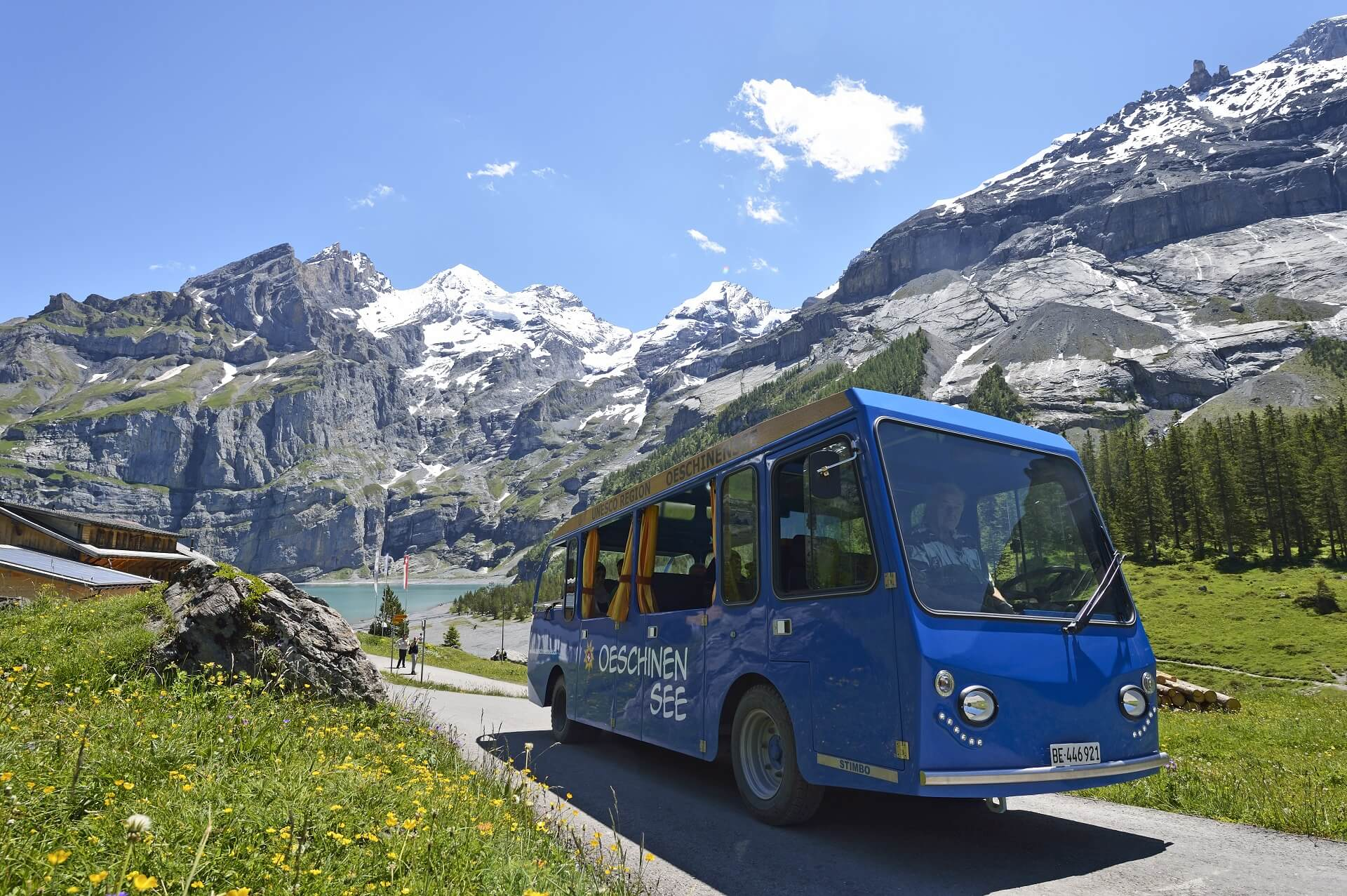 Oeschinensee Electro Bus from and to the lake shuttle