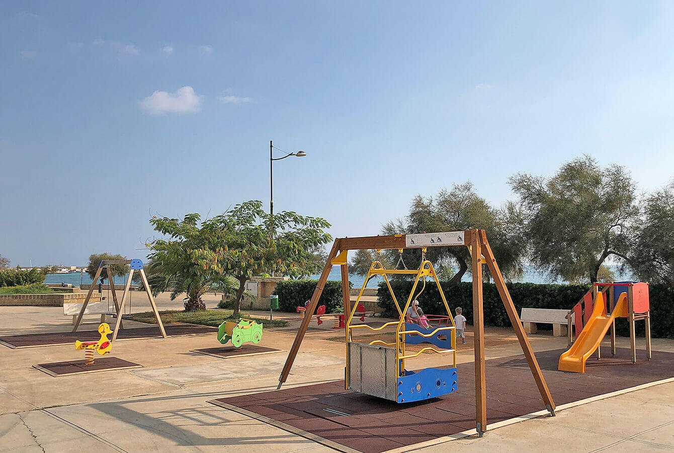 Children's playground at Torre Pali