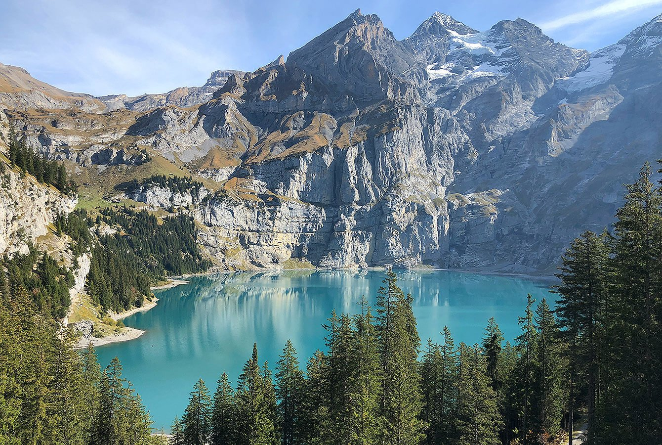 Wow, Oeschinensee at its best - View from Lägern - Switzerland