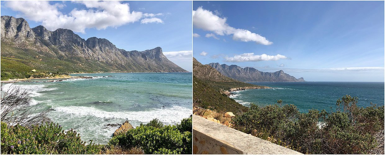 Scenic drive from Betty's Bay to Gordons bay