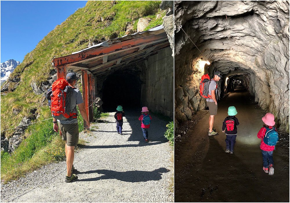 1st Part of the Family hike is through caves