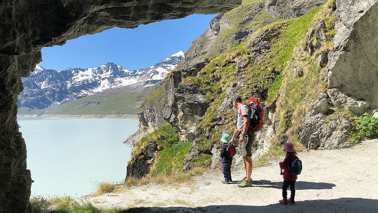 A Family Hike at La Grande Dixence-Dam, Valais Switzerland