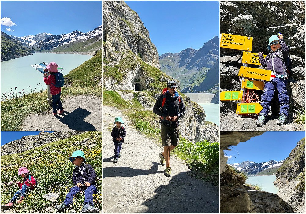 A beautiful family hike at La grande Dixence