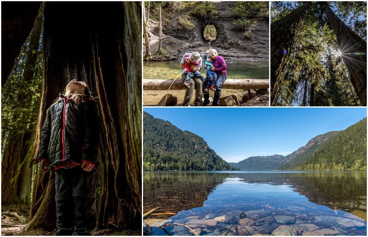collage of photos on Vancouver Island