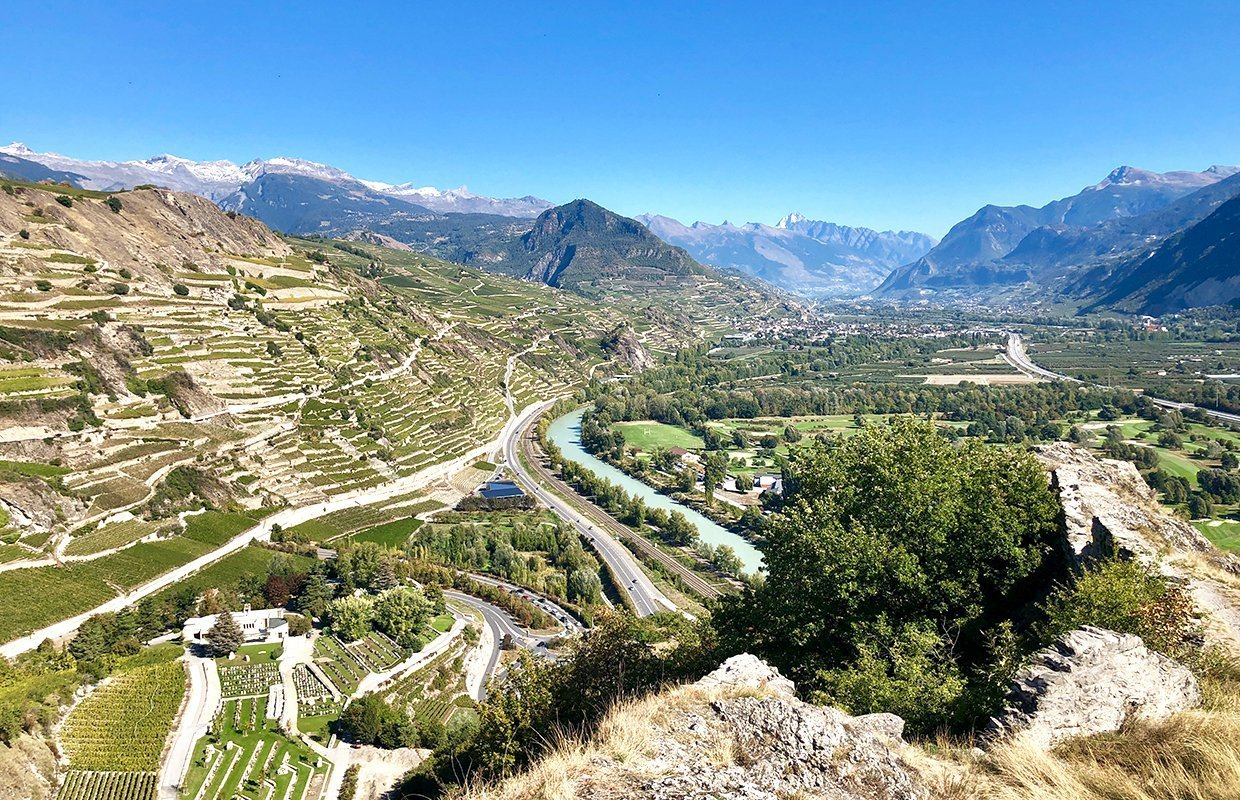 landscape shot of Valais