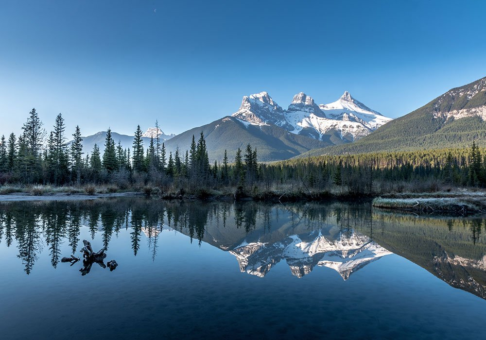 photography spot of the three sisters in Canmore