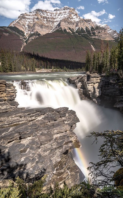 Athabasca falls in canada