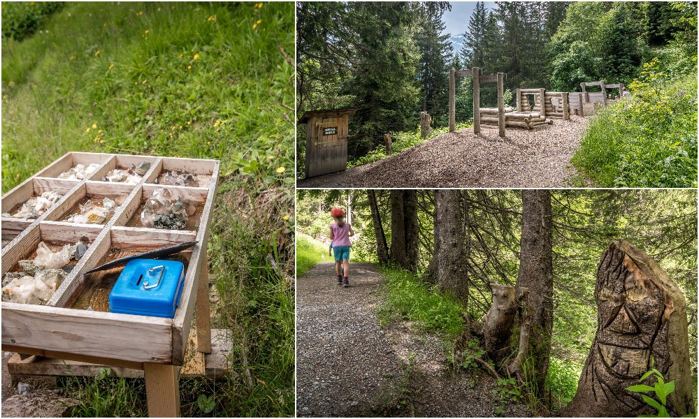 different photos from the Riesenwald Path in Elm