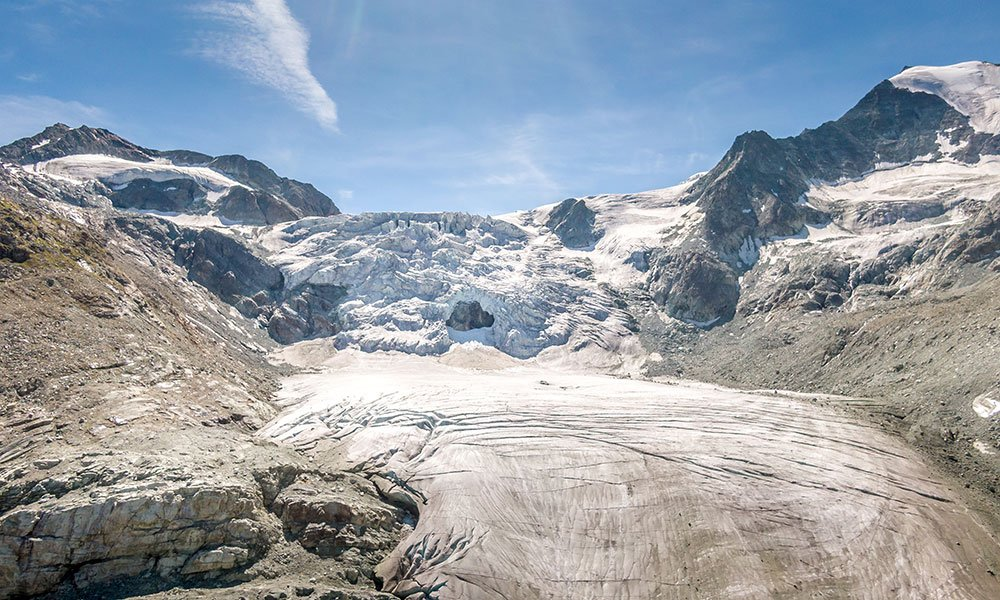 the ice of Moiry glacier