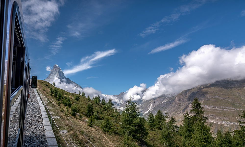 view of the Matterhorn out of the Gornergrat