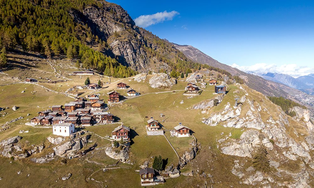 Areal view of the Jungen Alp