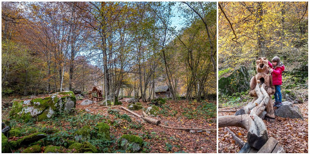 A picnic place in the Verzasca forest