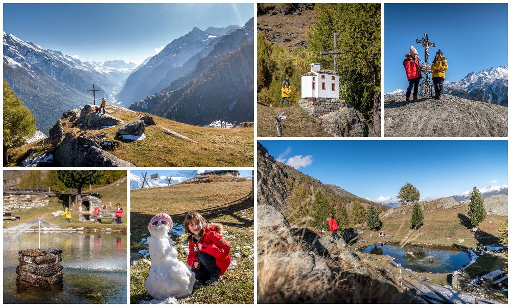mic collage of images at the Jungen Alp