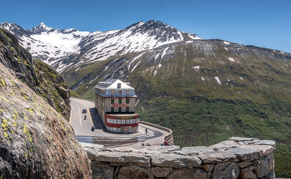deserted hotel at the Furka Pass Road, Belvedere