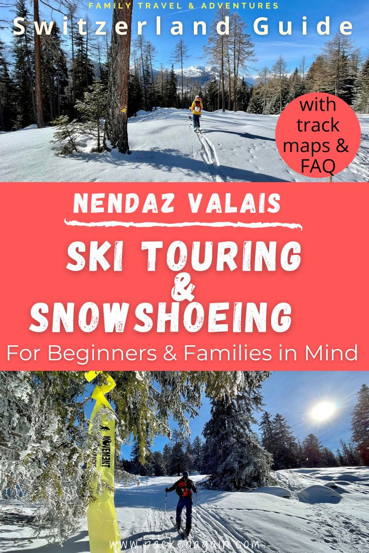 guide to ski touring and snowshoeing tracks in nendaz