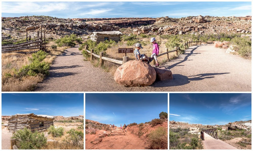 images of the beginning if hiking to delicate arch with the Ranch
