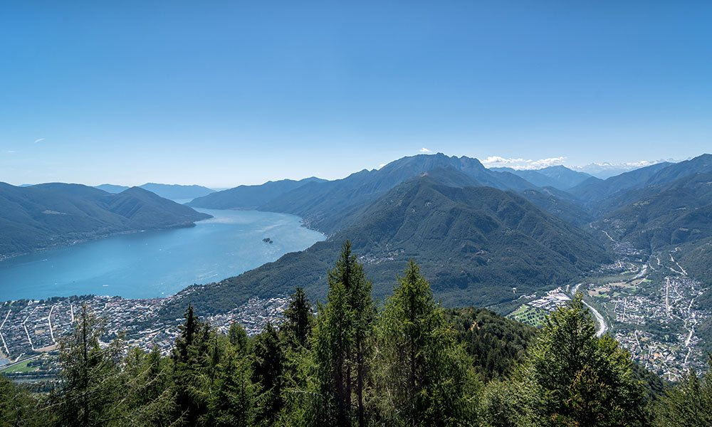 switzerland views from Cardada mountain over lago maggiore