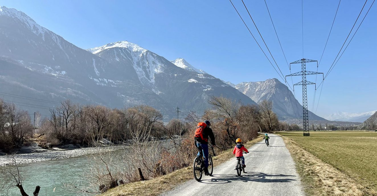 family bike route valais