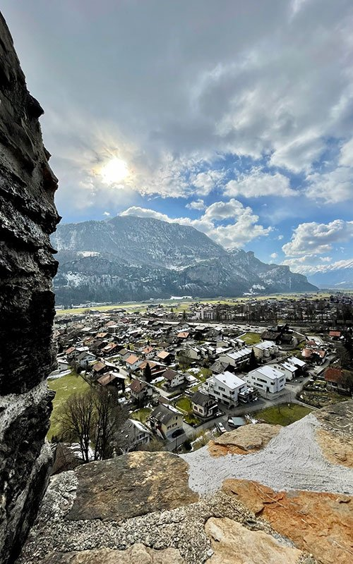 View from a old Touwer in Meiringen the RestiTurm