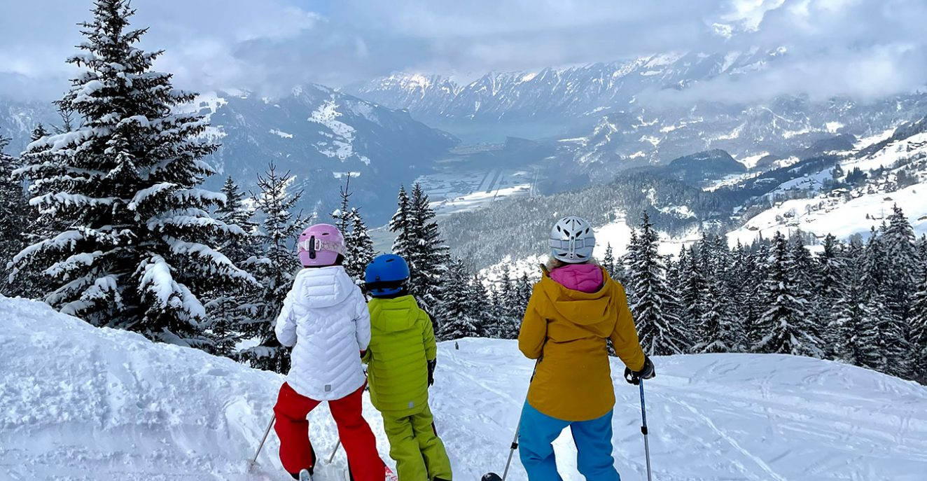 family at Hasliberg ski domain in the Jungfrau Region