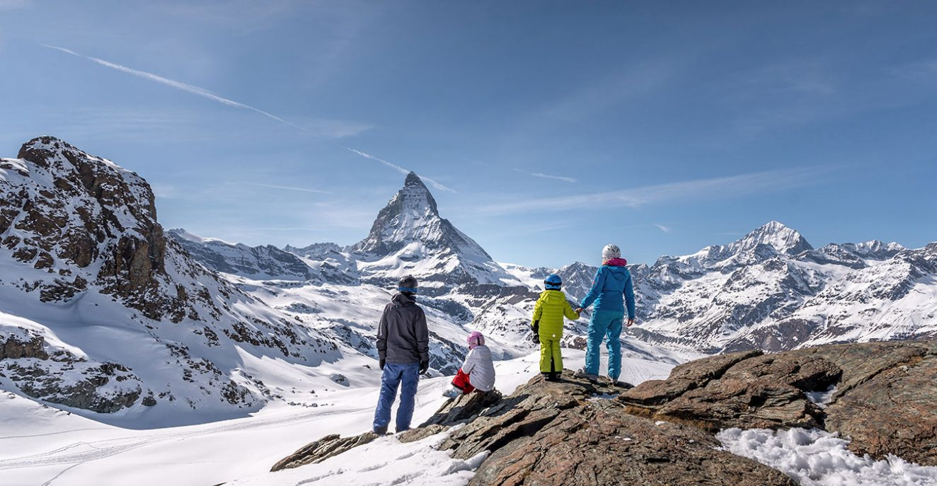 family in zermatt in winter things to do